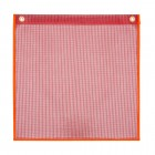"""35-1818-FRF2G –18"""" x 18"""" Fluorescent Red Mesh Flag with 2 Brass Grommets"""
