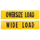 """35-8418-BVDAR – 18"""" x 84"""" Double Sided Banner-Wide Load & Oversized Load-Durable Vinyl Fabric with 4 Grommets and 4 Attached Ropes-Individualy Packaged"""